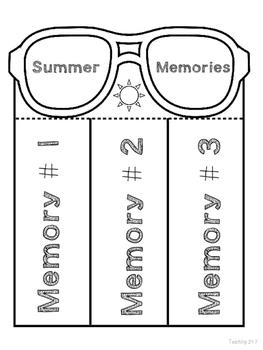 Summer Memories Writing
