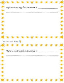 Summer Memory Book