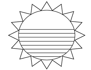 Summer Memory Writing Activity Template