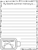 Summer Memory Writing Paper