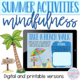 Summer Mindfulness Activities, Digital & Printable Versions