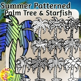 Summer Mindfulness Coloring Clip Art Set Commercial and Personal Use
