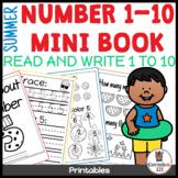 Summer Mini Book Math Worksheets 1-10 l Prevent Summer Slide l Distance Learning