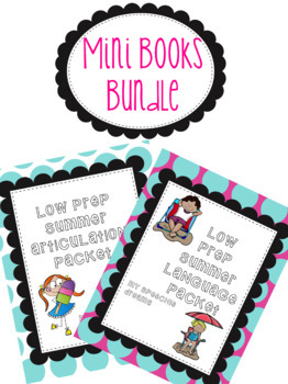 Summer Mini Books Bundle- Articulation and Language
