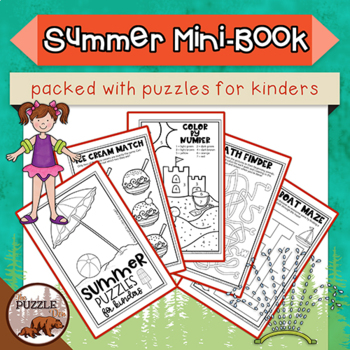 Summer Mini Puzzle Book for Kinders