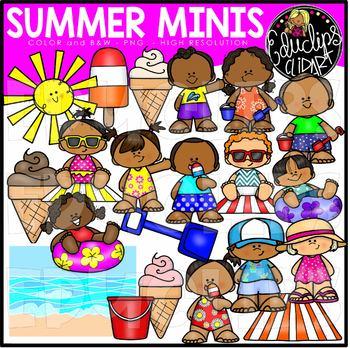 Summer Minis Clip Art Set {Educlips Clipart}