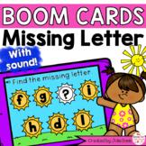 Summer Missing Letter Digital Game Boom Cards Distance Learning