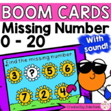 Summer Missing Number Digital Game Boom Cards Distance Learning