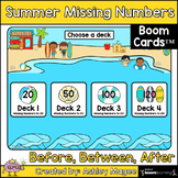 Summer Missing Numbers Boom Cards - Digital Distance Learning