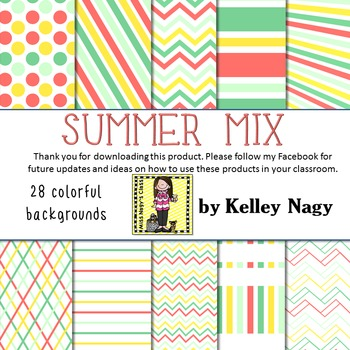 Summer Mix Digital Papers