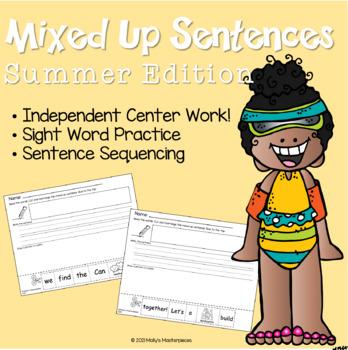 Summer Mixed-Up Sentences Pack