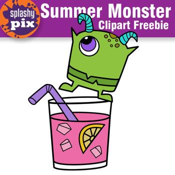Summer Monster Freebie Clipart