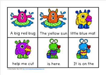 Summer Monsters Fluency Phrases Race