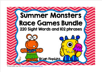 Summer Monsters Race Reading Bundle