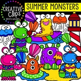 Summer Monsters: Summer Clipart {Creative Clips Clipart}