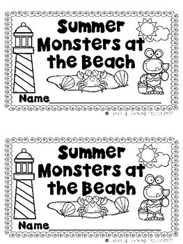 Summer Monsters at the Beach  (An  Emergent Reader and Teacher Lap Book)