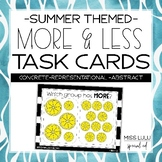 Summer More & Less Task Cards