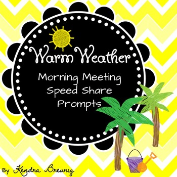 Summer Morning Meeting Speed Share Prompts