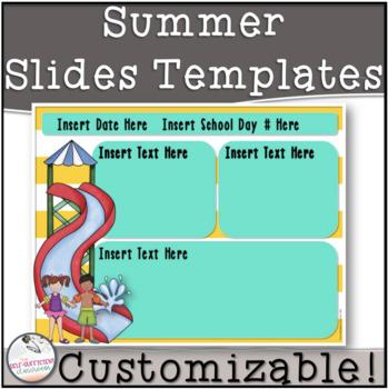 Summer Morning Message Slides~ EDITABLE!