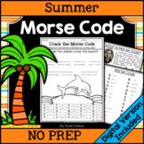 Summer Morse Code Activities | Printable & Digital