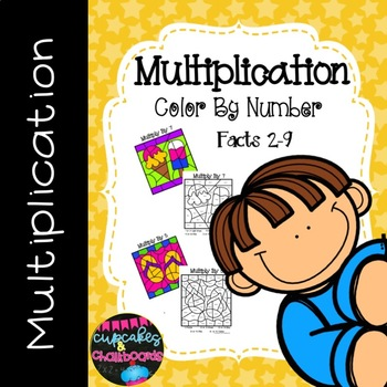 Multiplication Color By Number ~ 2's to 9's