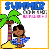 Summer Multiplication Color-By-Number