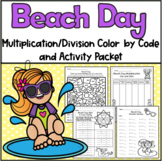 Summer Multiplication Color by Code