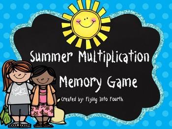 Summer Multiplication Memory Facts 10 - 12