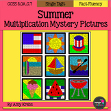 Summer Multiplication Mystery Pictures