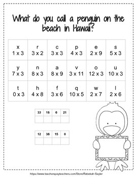 3rd Grade Math: Multiplication Practice