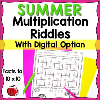 Summer Multiplication Practice