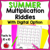 Summer Multiplication Practice - Digital Option - Distance