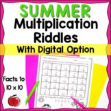 Summer Multiplication Practice - Digital Option - Distance