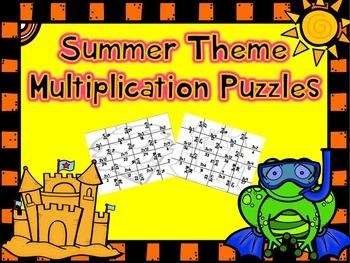 Summer Multiplication Puzzles