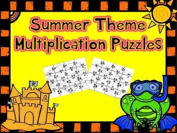 Summer Multiplication Puzzles