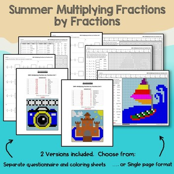Summer Multiplying Fractions by Fractions