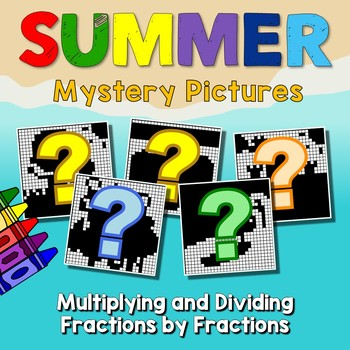 Math Color Pages 6th Grade Summer Packet Multiplying & Dividing Fractions Center