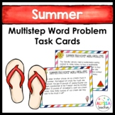 Summer Multistep Word Problem Task Cards (Grade 4)