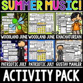 Summer Music Activity Pack!  Classical Music Fun for June and July, Summer
