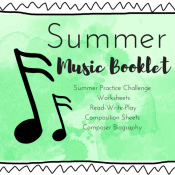 Summer Music Booklet