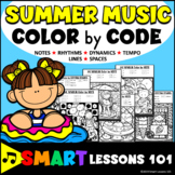 Summer Music Color by Code Color by Note Color by Rhythm Color by Dynamics Tempo