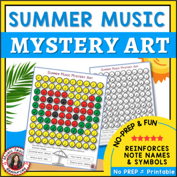 Summer Music Coloring Pages: 12 Music Coloring Sheets: Music Mystery Art