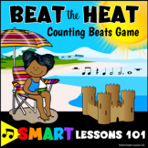 Summer Music Game: Beat the Heat Note Value Music Game: Rhythm Symbol Counting