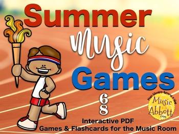 Summer Music Games {6/8 meter set}