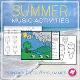 Summer Music Worksheets, Glyph, & Games