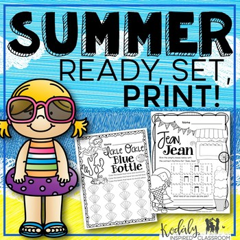 Music Worksheets for Summer {Ready Set Print}