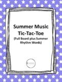 Summer Music Tic-Tac-Toe