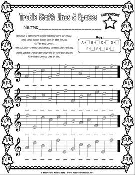 Summer Music Worksheets: Sweet Sampler FREEBIE!
