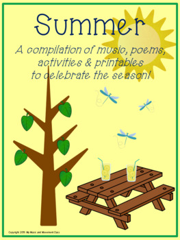 Seasons Summer Music and Movement Lesson Plan and Activities, Preschool Music