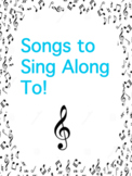 Songs to Sing Along To! - Great for Subs, Homeschooling &